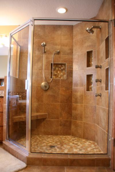 Master Bathroom Tile construction professionals llc : custom home builders in des