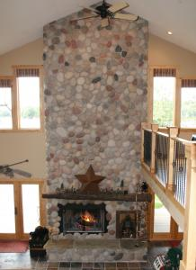 Lake House Fireplace